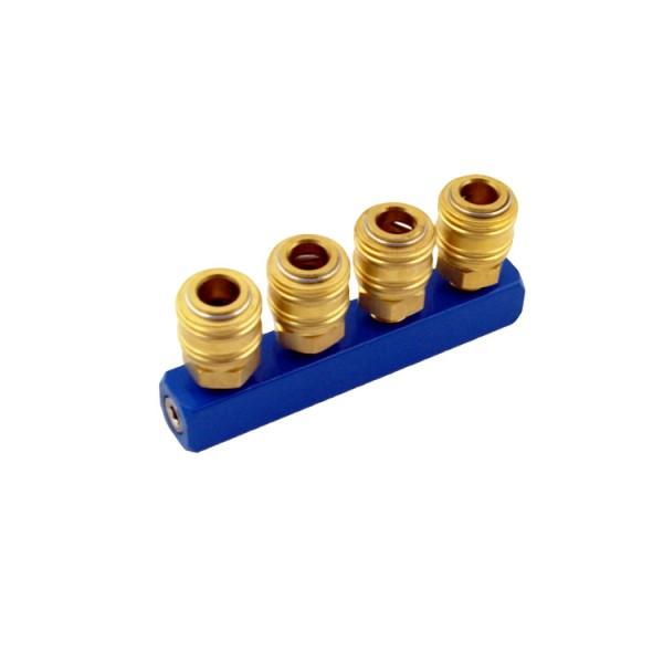 4-fach Druckluftverteiler