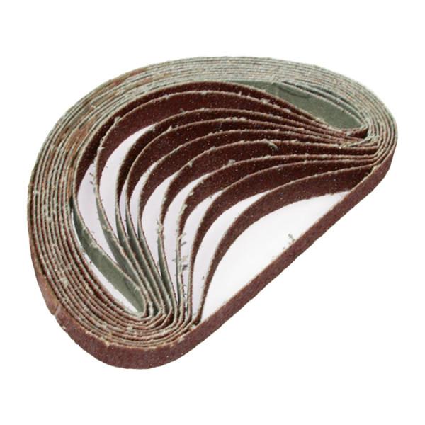10x Schleifbänder für Bandschleifer